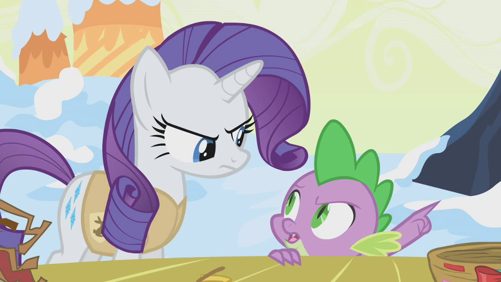 mlp spike and rarity images mlp that nest needs to be condeemed hd