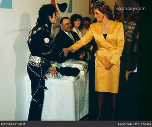 Michael And Princess Diana Backstage Back In 1988