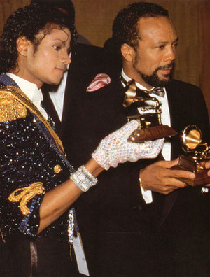 Michael And Quincy Jones Backstage At The 1984 Grammy Awards