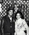 A Vintage Autographed Photo Of Michael And Janet - michael-jackson photo