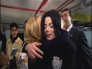 Michael Hugging A Fan