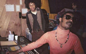 Michael In The Recording With Stevie Wonder