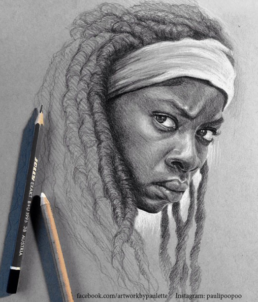 Michonne on Toned Paper