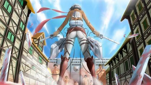 Attack on Titan karatasi la kupamba ukuta titled Mikasa