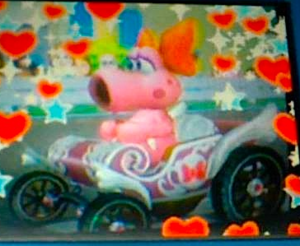 My DSi 사진 of Birdo in Mario Kart Wii-edited using the 편집 function