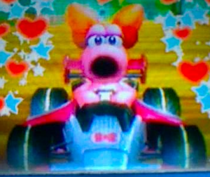 My DSi фото of Birdo in Mario Kart Wii-edited using the Редактировать function