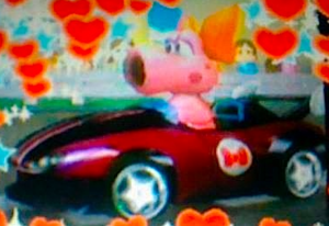 My DSi mga litrato of Birdo in Mario Kart Wii-Edited using the edit function
