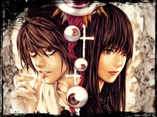 death note wallpaper probably with a jalan, street titled Naomi Misora
