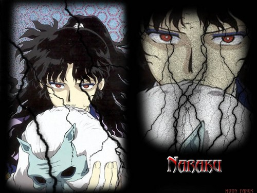 Naraku Wallpaper Containing A Stained Glass Window And Anime Titled