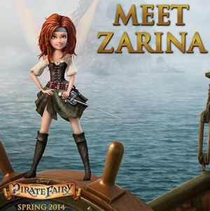 New Lady: Zarina. New ডিজনি Film: The Pirate Fairy (Spring 2014)