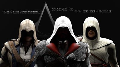 The Assassins Wallpaper Possibly Containing An Overgarment Entitled Nothing Is True Everything Permitted