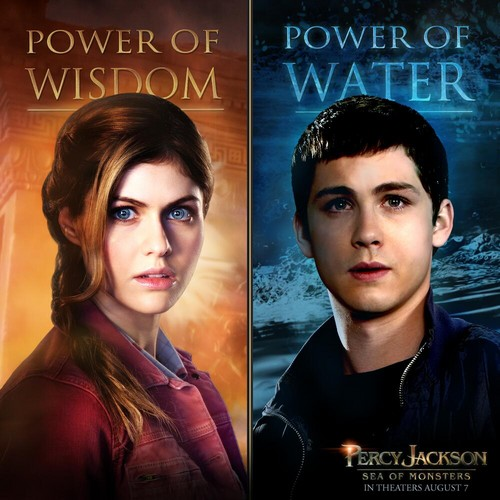 Percy Jackson And Annabeth Chase wallpaper containing a portrait called Percy and Annabeth in PJ: Sea of Monsters