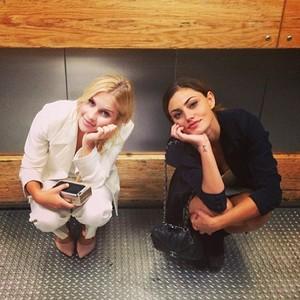 Phoebe Tonkin + Claire Holt