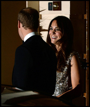 Prince William and Kate Middleton at the Royal Society