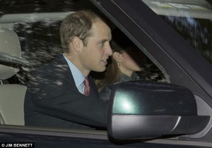 Prince William was in the driving sitz