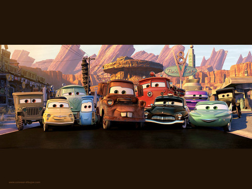 Disney Pixar Cars karatasi la kupamba ukuta possibly containing a carriageway entitled Radiator sptings