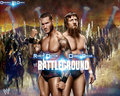 wwe - Randy orton vs Daniel bryan battelground match card wallpaper