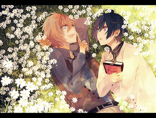 Uta no Prince-sama wallpaper possibly with a bridesmaid and a bouquet called Ren x Masato