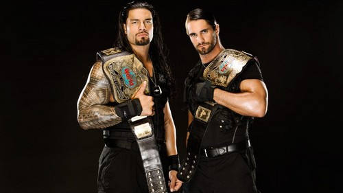 The Shield (WWE) wallpaper possibly containing a hip boot, a surcoat, and an outerwear called Roman Reigns and Seth Rollins