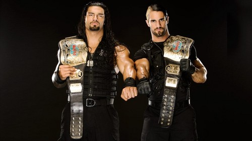 The Shield (WWE) wallpaper probably with a green beret, fatigues, and battle dress titled Roman Reigns and Seth Rollins