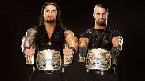 The Shield (WWE) wallpaper entitled Roman Reigns and Seth Rollins