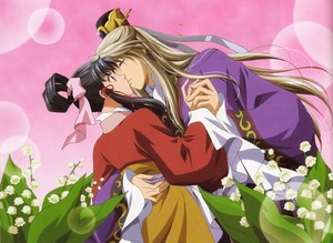 Saiunkoku Monogatari Ryuuki Shi and Shuurei Kou kiss