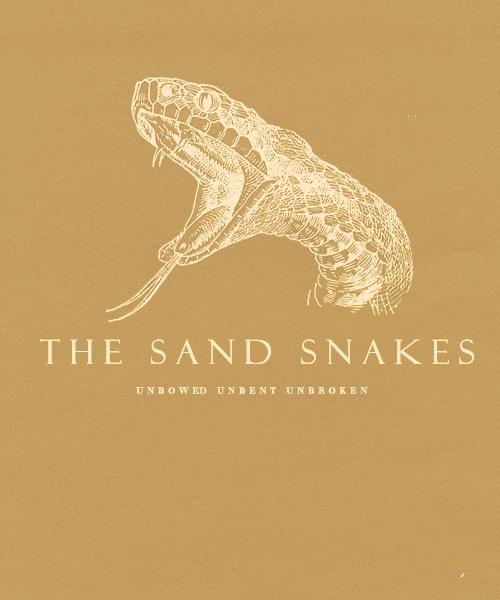 sand snakes poster house martell fan art 35696422 fanpop