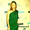 Actresses photo probably with a cocktail dress and a portrait called Sarah Wayne Callies