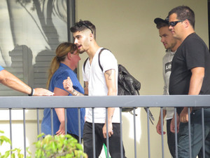 September 23rd - Liam and Zayn Leaving for the Arena in Adelaide, Australia