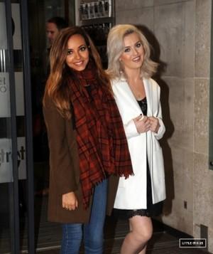 September 23rd - Perrie and Jade leaving Radio 1 in london