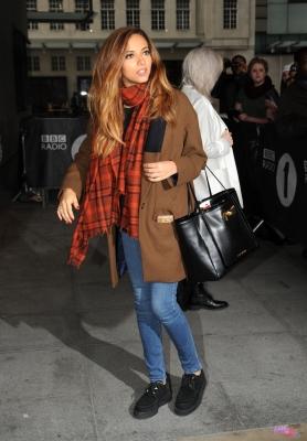 September 23rd - Perrie and Jade leaving Radio 1 in 런던