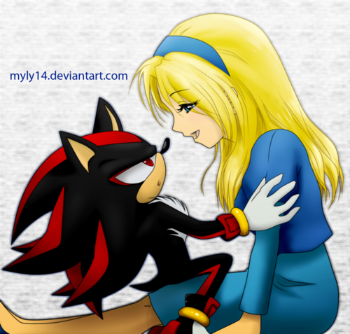 Shadow The Hedgehog wallpaper with anime titled Shadow and Maria