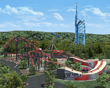 rollercoasters images six flags st louis tony hawk s big spin