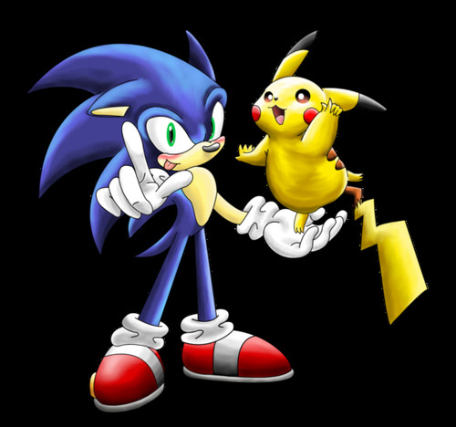 Sonic the Hedgehog wallpaper titled Sonic & Pika!