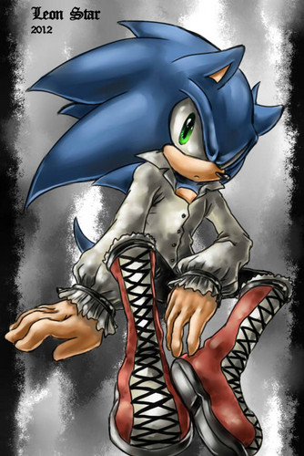 Sonic the Hedgehog wallpaper probably with anime titled Sonic