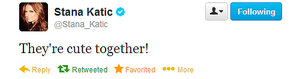 Stana's twitt about Caskett-September,2013