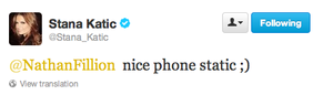 Stana's twitter-September,2013