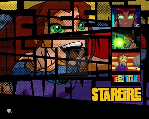 Starfire 바탕화면 with a stained glass window titled Starfire