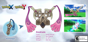 The evolved form of Honedge has been revealed!