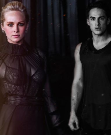 Tyler and Caroline wallpaper possibly containing a well dressed person called Tyler & Caroline / TVD Season 5