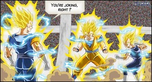 Vegito vs goku and Vegeta