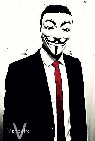 V For Vendetta Wallpaper Containing A Business Suit And Titled