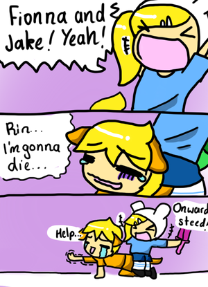 Vocaloid Time: Halloween: FIONNA AND JAKE
