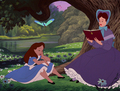 Younger Belle and her mother