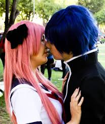 Yukinari and Miharu KIssing Cosplay