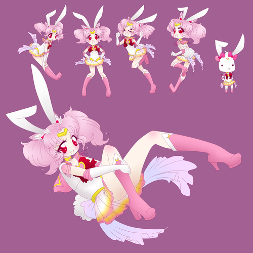 Sailor Mini moon (Rini) wallpaper entitled chibi moon bunny
