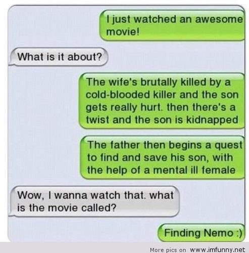Finding Nemo wolpeyper titled funny