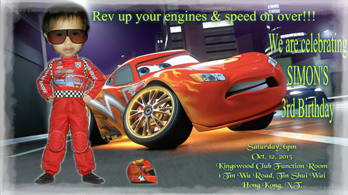 Disney Pixar Cars karatasi la kupamba ukuta entitled invite3