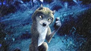 kate in the rain