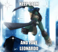 keep calm and love leonardo - tmnt-2012 fan art
